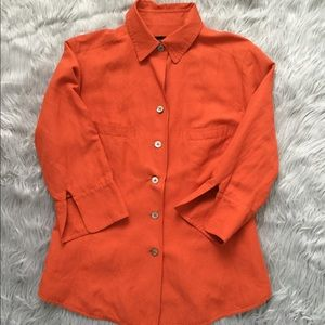LINDA ALLARD ELLEN TRACY JACKET/BLAZER ORANGE 28